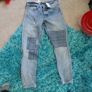 nwt ladies sz 27 Levi's 501 selvedge denim Jeans
